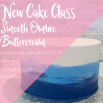 Ombre Buttercream Cake Class - Thursday, August 15, 2019 7pm-9pm