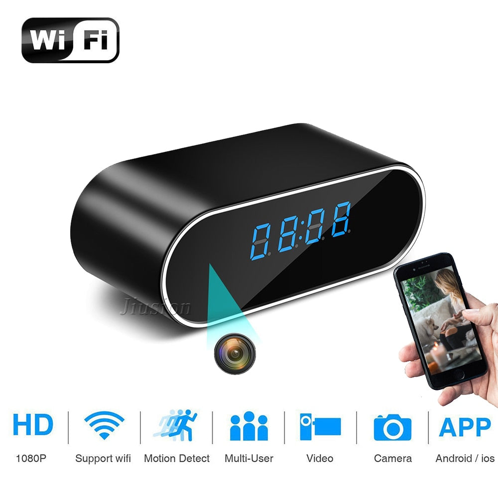 Mini Alarm Clock w/Wireless Hidden Camera 1080P