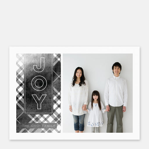 Black Plaid Holiday Cards – Front View