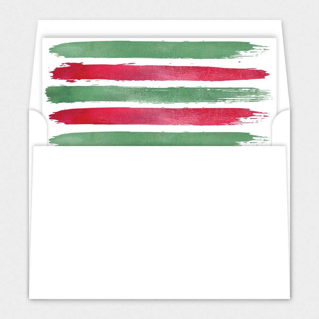 Festive Stripes Holiday Cards – Envelope Liners