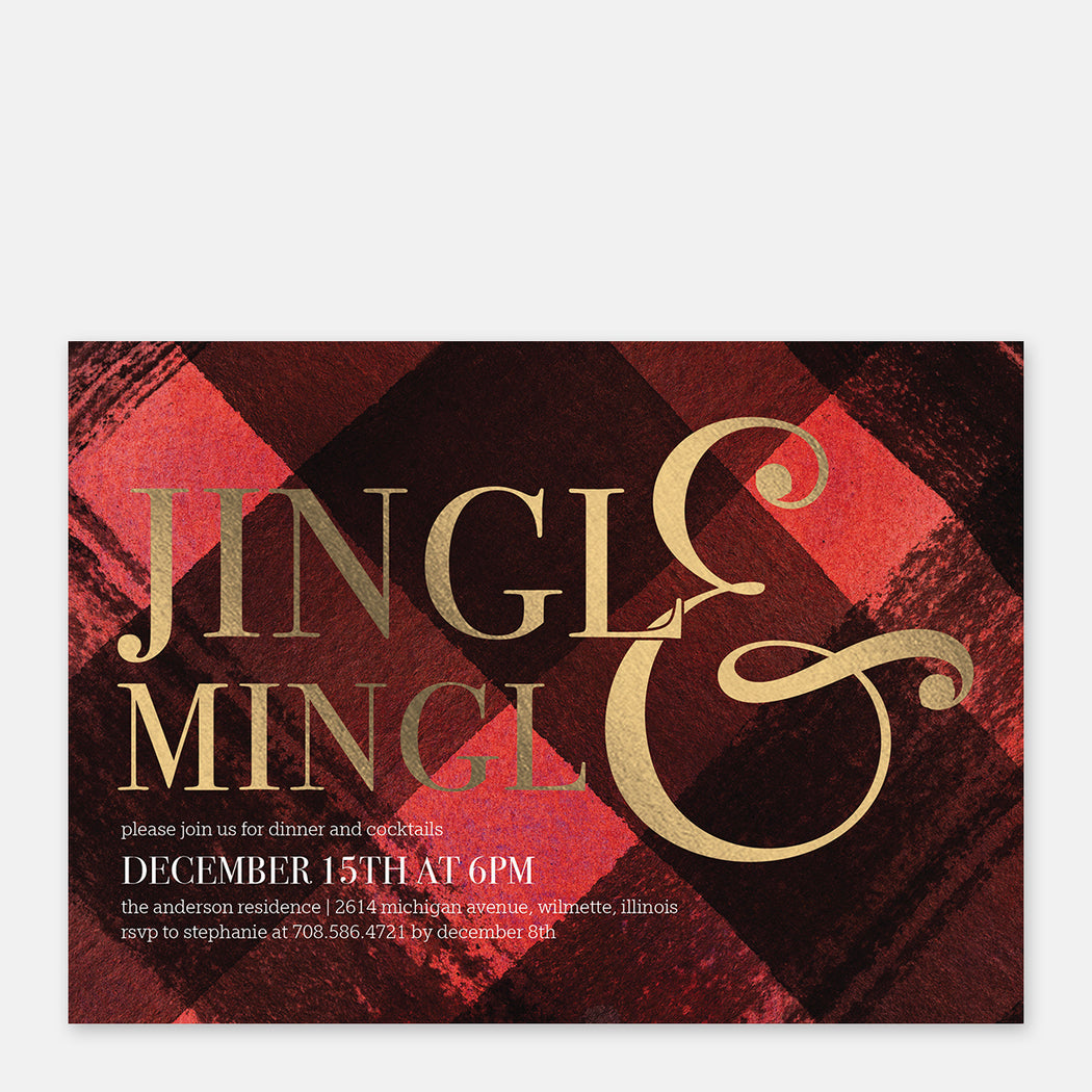Jingle & Mingle Holiday Party Invitations – Front View