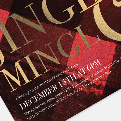 Jingle & Mingle Holiday Party Invitations – Detail View