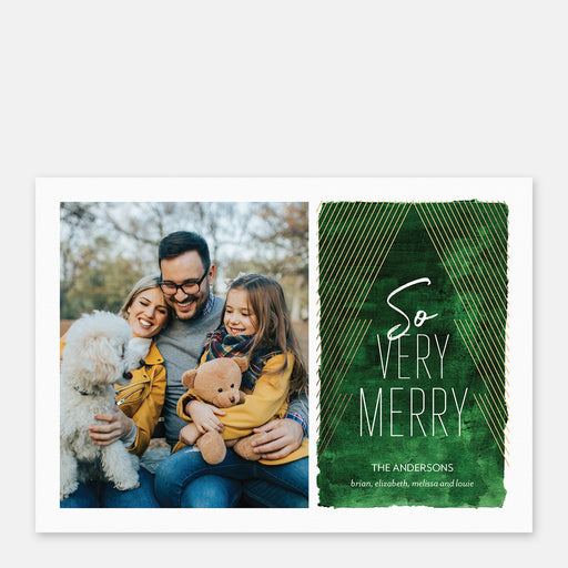 Modern Tree Holiday Cards – Front View