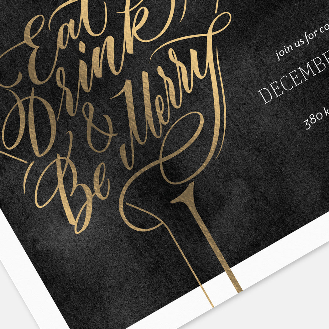 Peppermint Party Holiday Party Invitations – Detail View