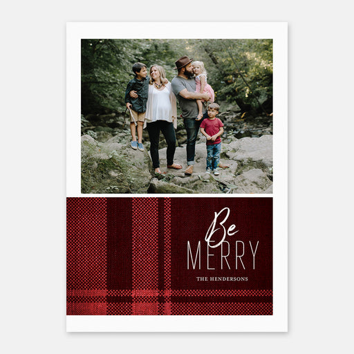 Perfect Plaid Holiday Cards – Front View