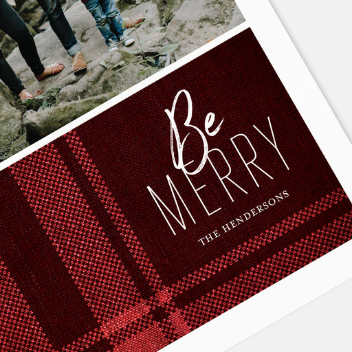 Perfect Plaid Holiday Cards – Detail View