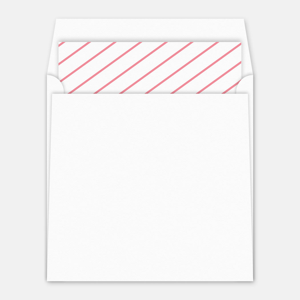 Radial Bullseye Birth Announcement – Envelope Liner