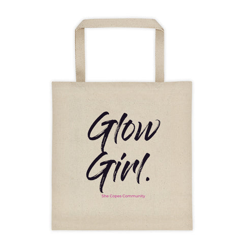 'Glow Girl' Cotton Canvas Tote
