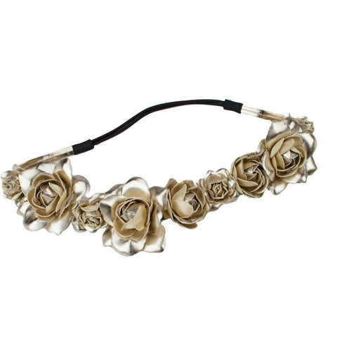 ROSE HEADBAND- GOLD