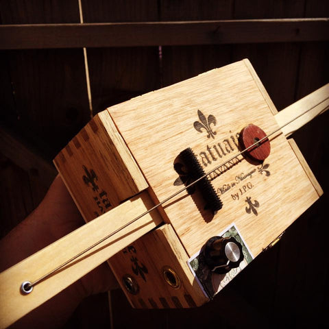 The Electric One String Cigar Box Diddly Bow