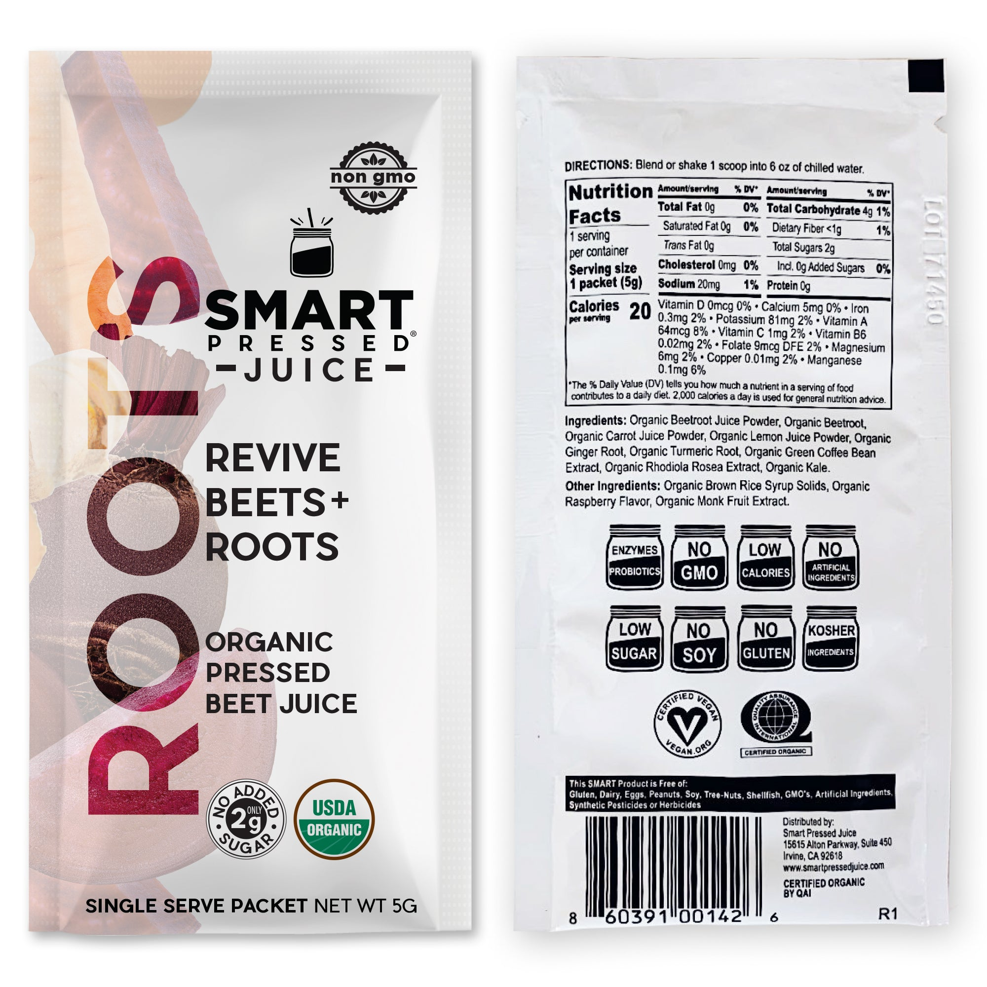 Smart Pressed Juice Revive Beets + Roots Packets