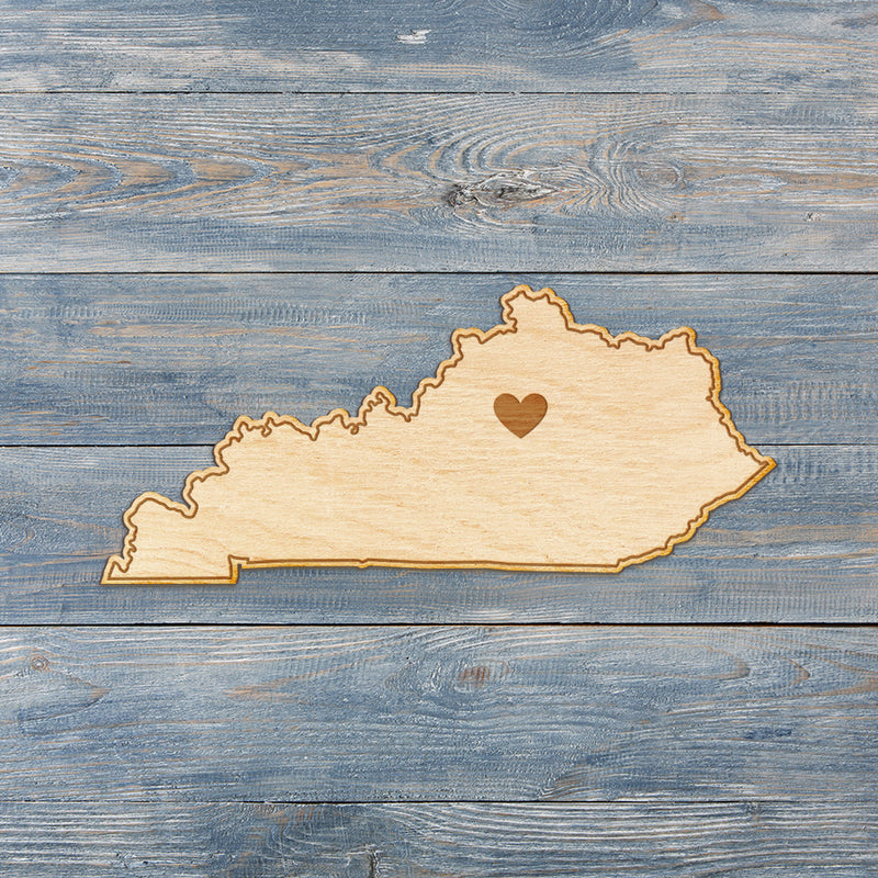 Kentucky Cut Sign With Custom Engraved Heart Placement