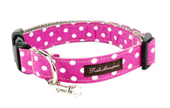 Hot Pink/White Polka Dots - 504