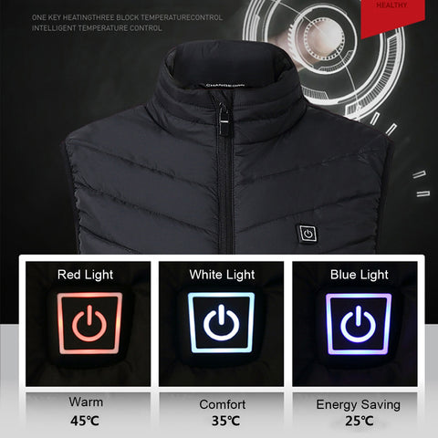 Image of USB Heated Unisex Outdoor Vest Jacket