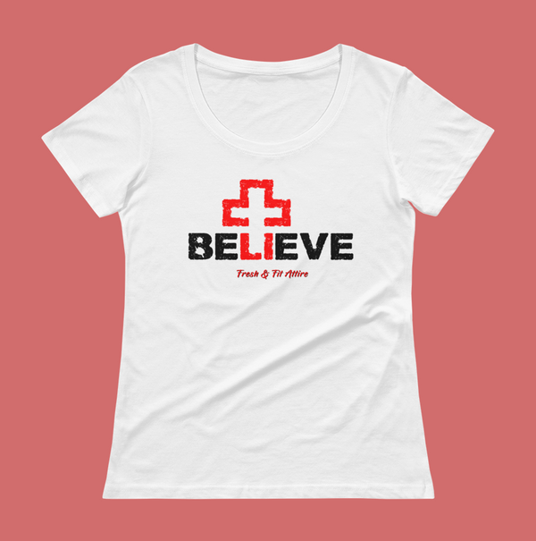 Believe - Women's Scoop Neck Tee - CLEARANCE