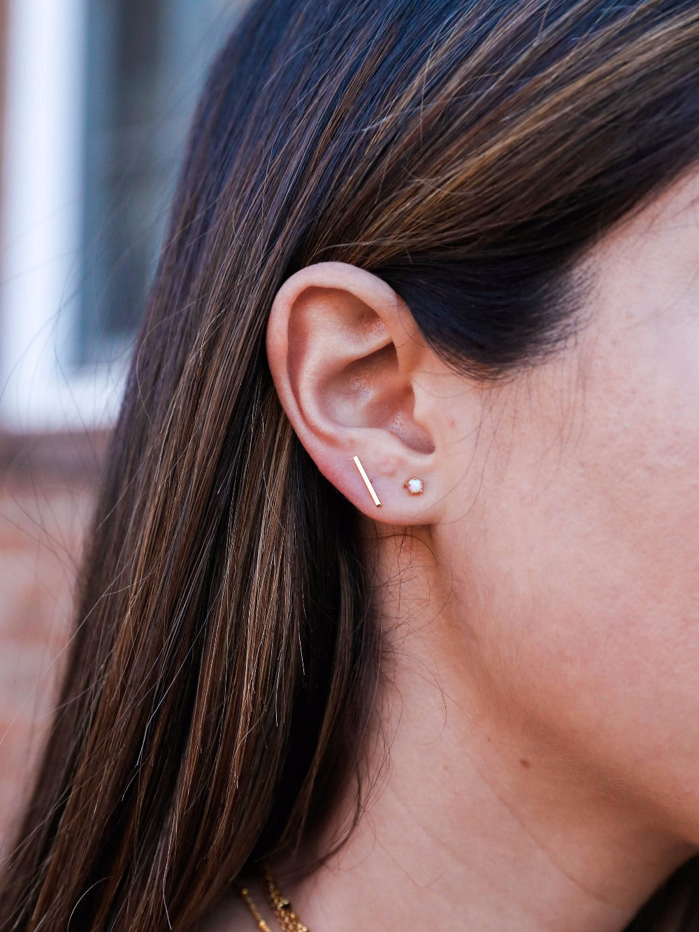 Bar Minimalist Earrings