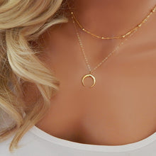 Load image into Gallery viewer, FREE Gold plated minimal, petite necklace