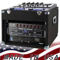 Mixer Rack 10 space top x 6 space bottom  for DJ & karaoke gear  Top Loaded