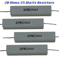Ceramic Resistors 4 each 20 Ohms 25 watts