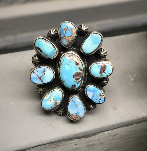 Golden Hill Turquoise Cluster Ring