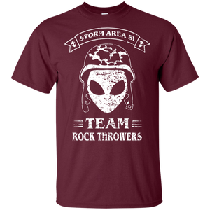 Storm Area 51 - Team Rock Throwers - Camo Military Alien Shirt