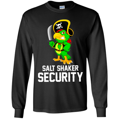 Salt Shaker Security Pirate Head Parrot Lover Gift Kids Youth Shirt