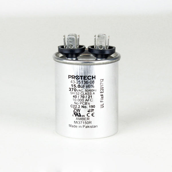 PROTECH 43-25136-08 - Capacitor - 15/370 Single Round