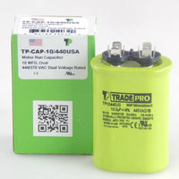 TRADEPRO - TP-CAP-10/440USA 10 MFD 440/370V Oval Capacitor (Made in USA)