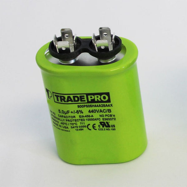 TRADEPRO - TP-CAP-5/440 USA 5 MFD 440/370V Oval Capacitor (Made in USA)