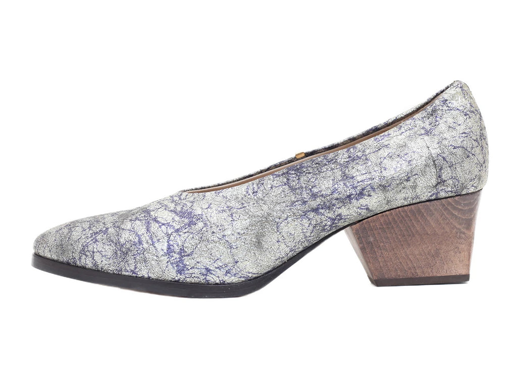 Bayou Silver Tie Dyed Leather Heel