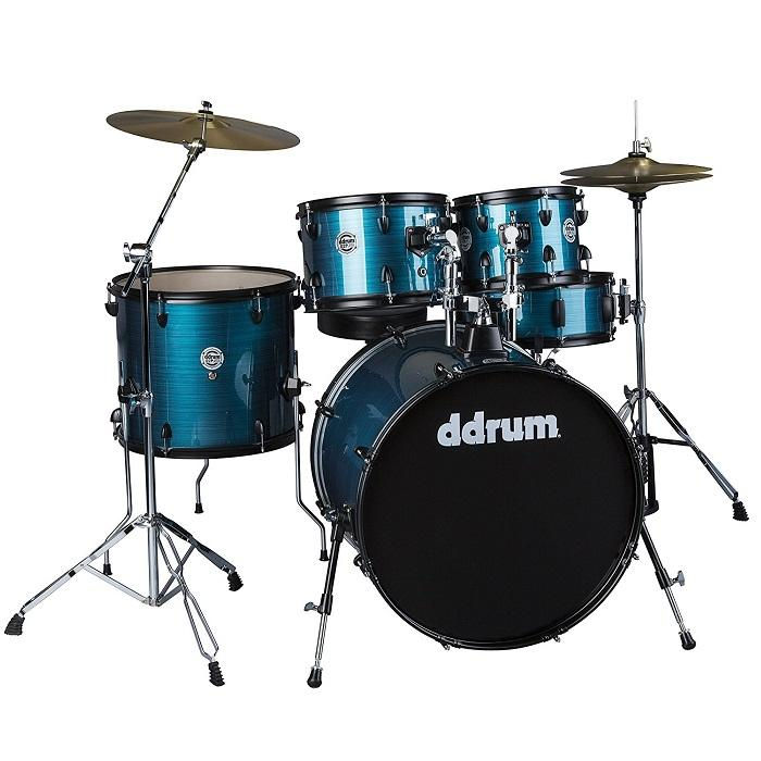 Ddrum D2P Bps Ddrum D2P Bps Player Complete Drum Set Kit W Cymbals Amp Hardware Blue Pinstripe