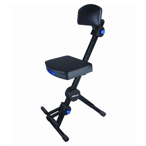 Quiklok Dx-749 Height Adjustable Musicians Stool With Adjustable Footrest And Back Rest