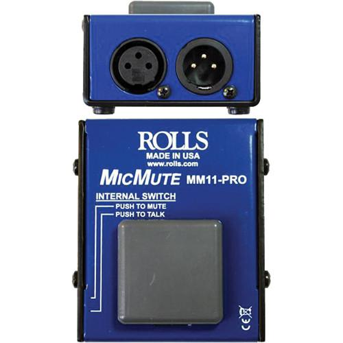 Rolls Mm11 Microphone commutable Mutetalk Professional Microphone Switch