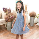 Blue Floral Dress for Girls - Ribbon and Blues