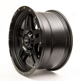 SNIPER WHEELS SW223 18 x 9, 6x139.7, +20 Matt Black with Gloss Black Lip set of 4pcs including caps. Flow Formed