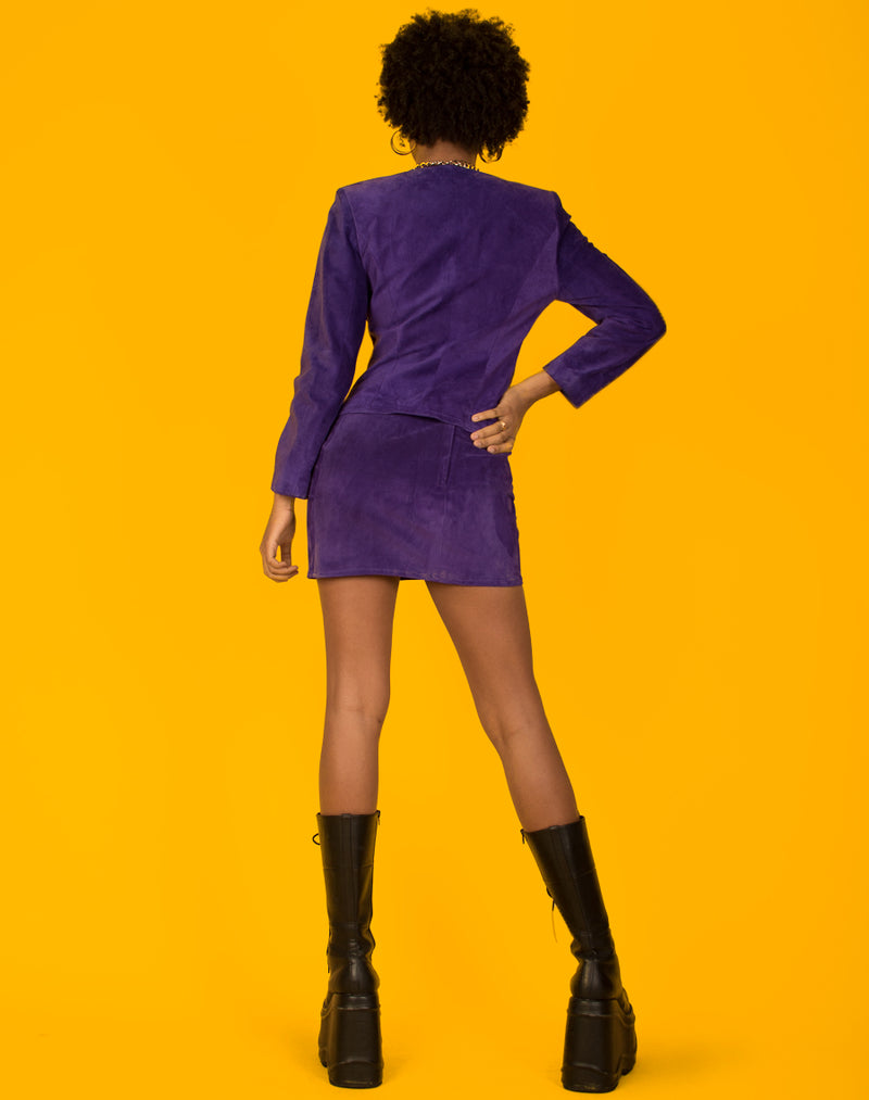 PURPLE SUEDE POWER SUIT