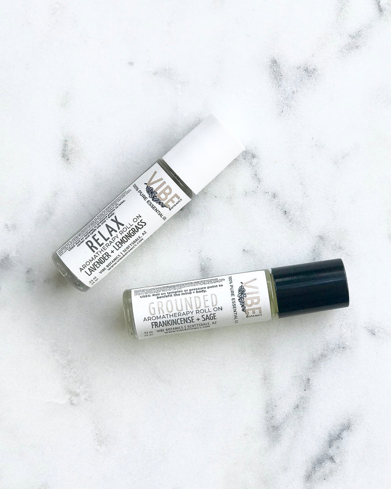 RELAX + GROUNDED Aromatherapy Roll On Duo
