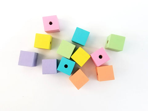 Small pastel lacing beads