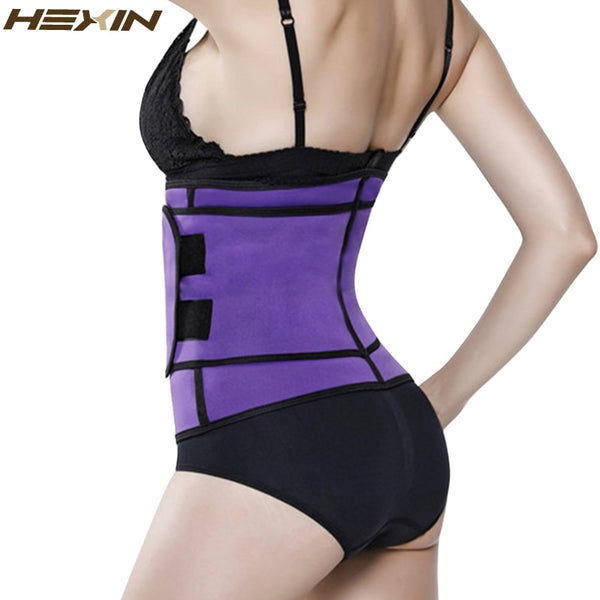 HEXIN Neoprene Sauna Sweat Waist Cincher Zipper Corsets Hot Body Shaper Abdominal Slimming Belt Tummy Trimmer Shapewear