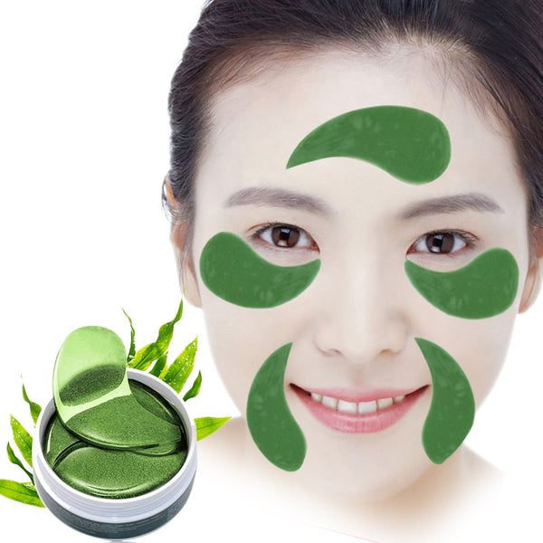 60PC Collagen Crystal Eye Mask Gel Eye Patches Ageless Anti Age Eye Bags Dark Circles Patch Face Mask for the Sleep Mask Ageless