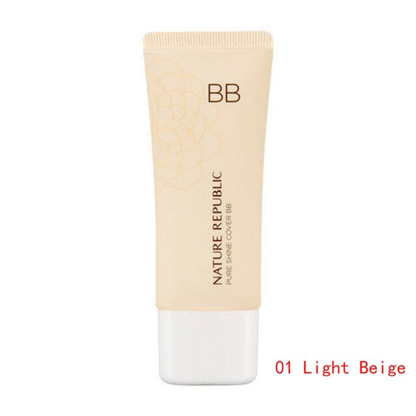 NATURE REPUBLIC Pure Shine Cover BB SPF35 PA++ Whitening Moisturizing BB Cream Concealer Foundation Face Makeup Korean Cosmetics