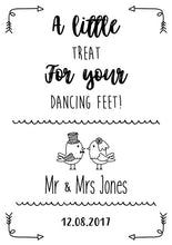 A little treat for your dancing feet wedding sign