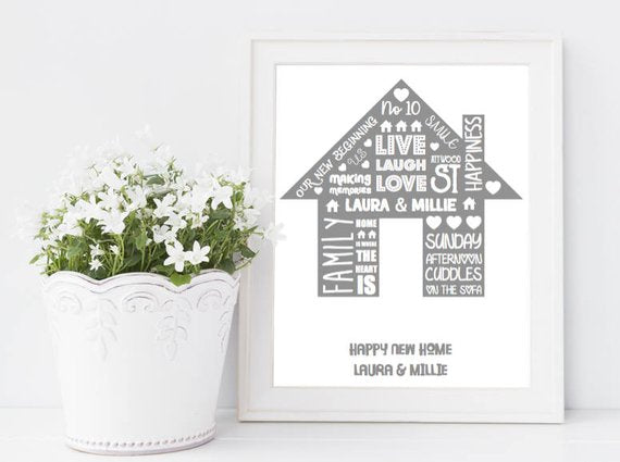 personalised new home print