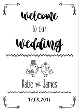 wedding sign print