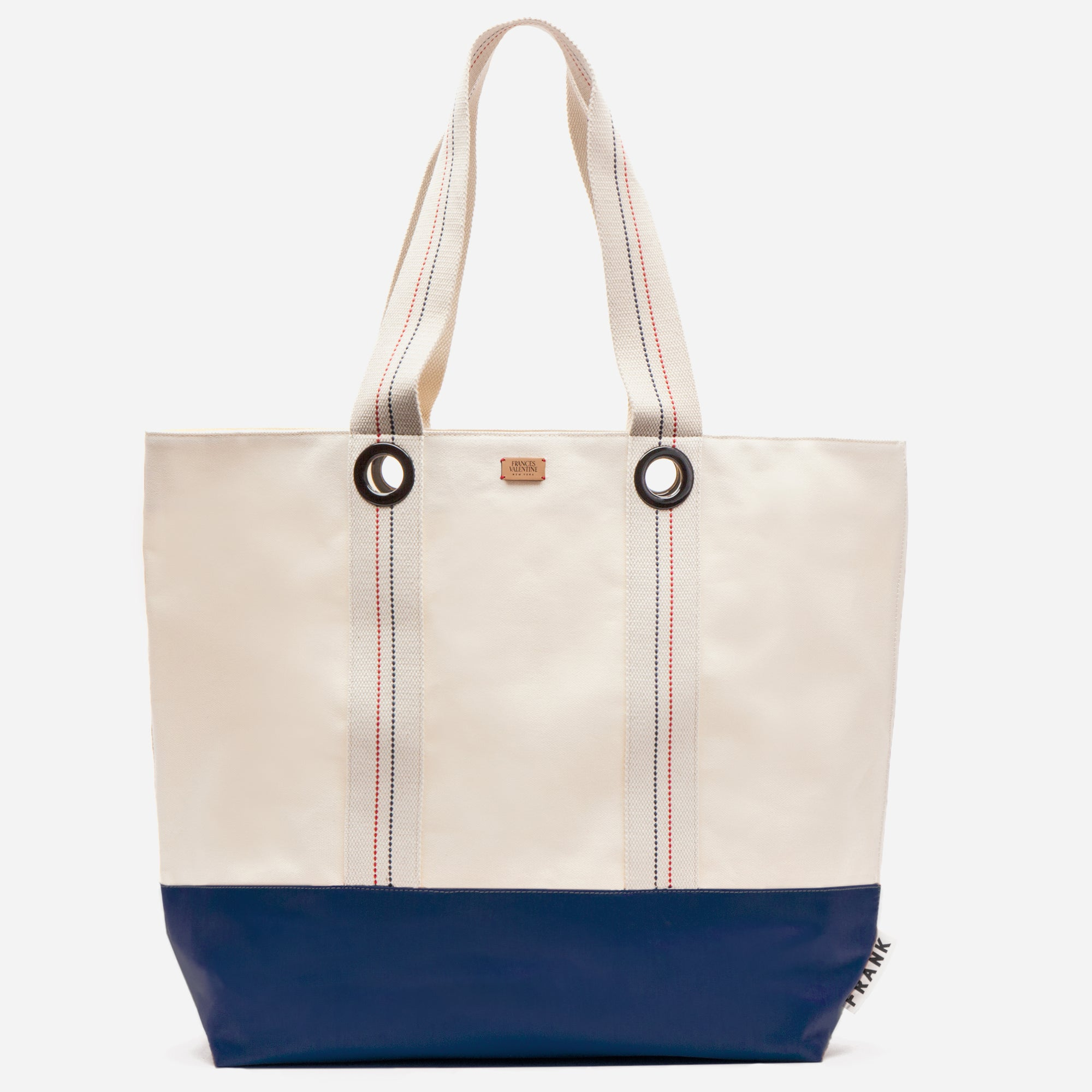 Frank Men's XL Canvas Tote Natural Navy