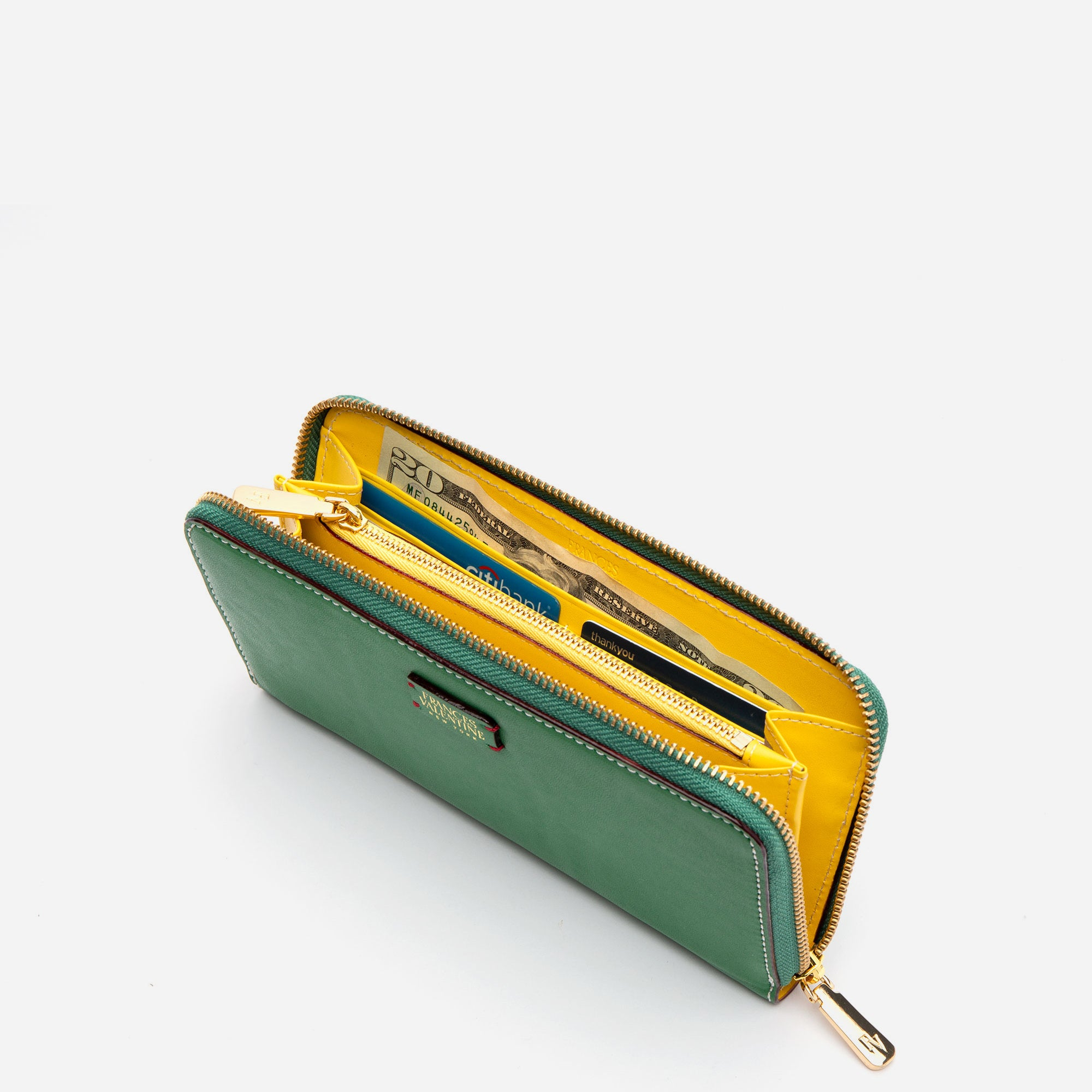 Washington Zip Wallet Green Yellow