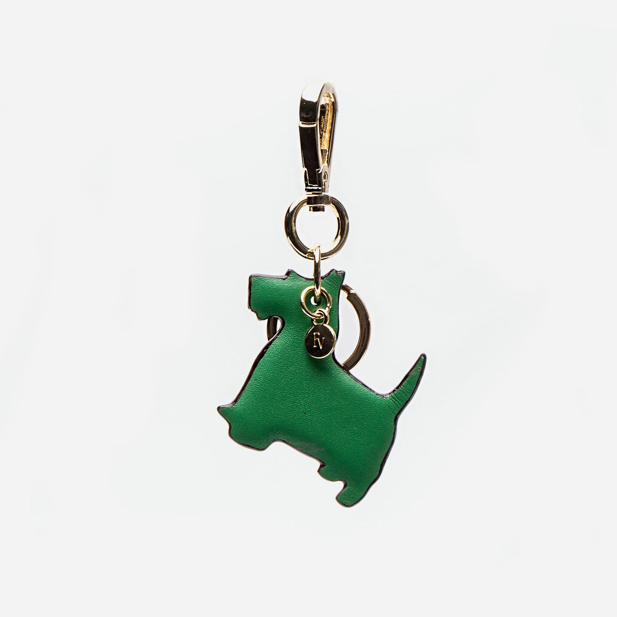 Scottish Terrier Keychain Green