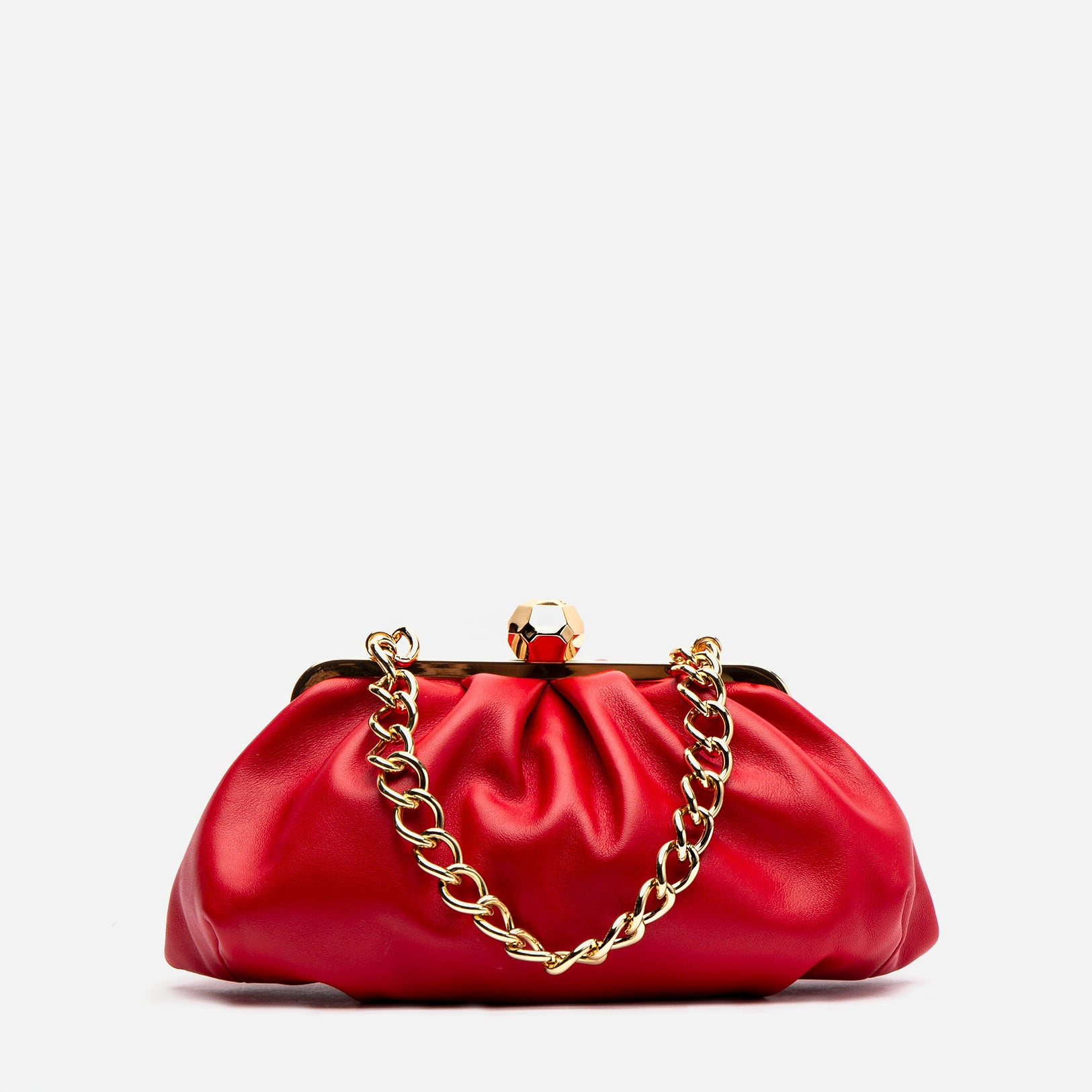 Zelda Frame Bag Nappa Leather Red