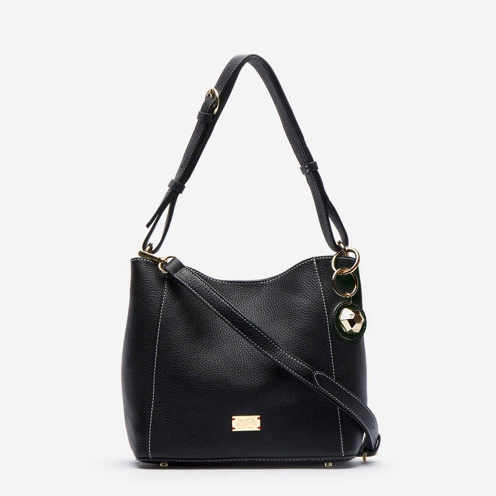 Small June Tumbled Leather Black