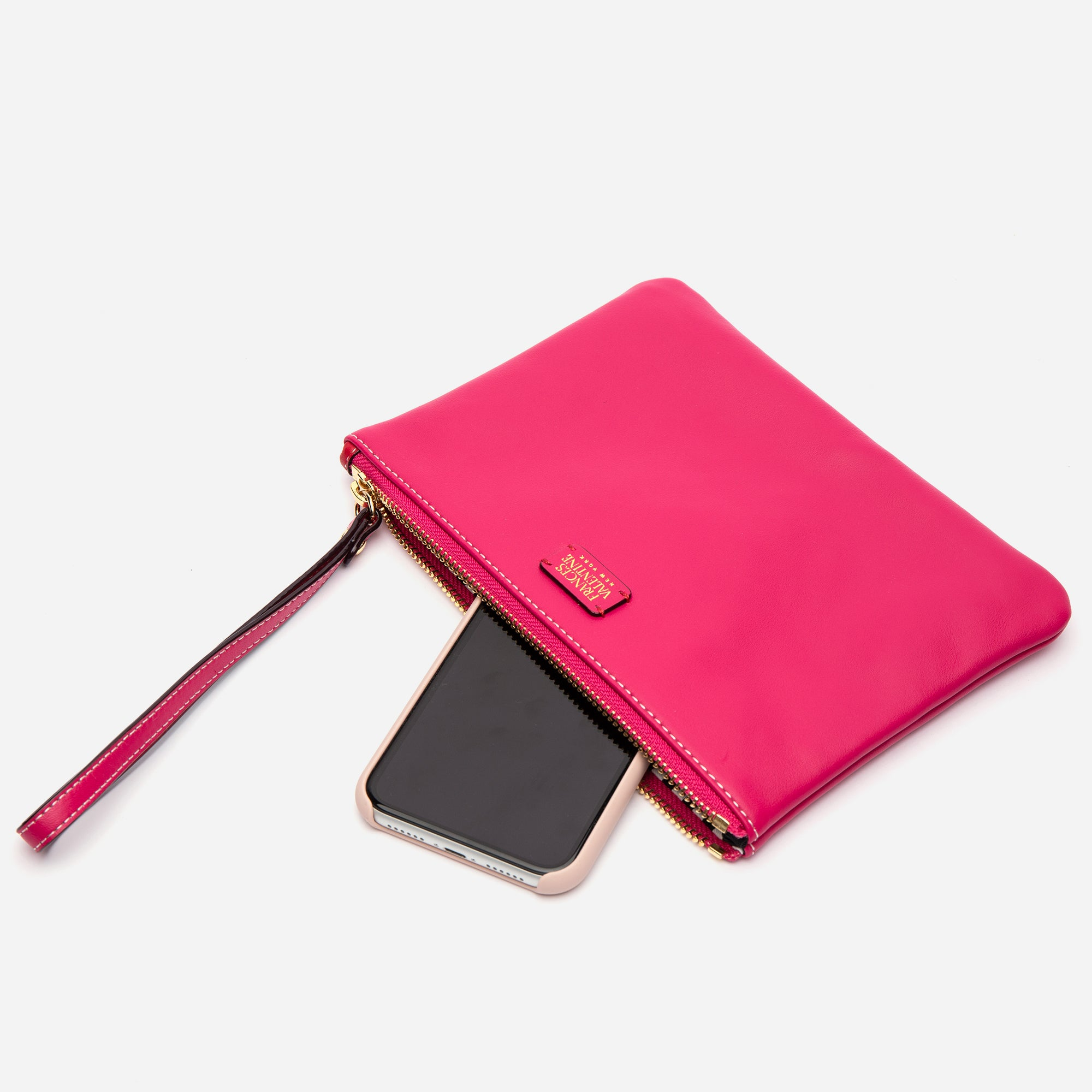 Wristlet Nappa Leather Pink